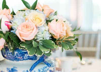 Blue and White Vase Centerpiece