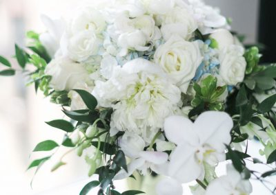 Gorgeous Bridal Bouquet of White Roses